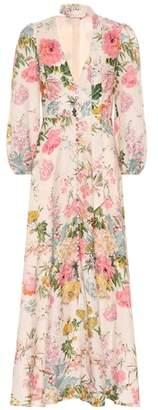 Zimmermann Heathers floral linen maxi dress