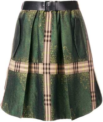 Alberta Ferretti check detail skirt