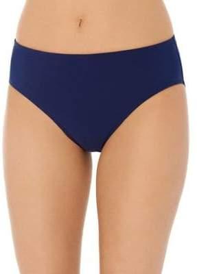 Christina Solid Semi High-Waist Bikini Bottom