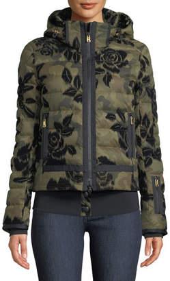 Bogner Sport Muriel Camo & Floral-Print Jacket w/ Removable Hood