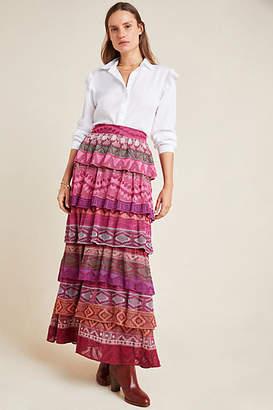 Cecilia Prado Tiered Sweater Maxi Skirt