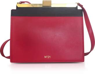 N°21 Red & Black Nappa Leather Pouch Bag