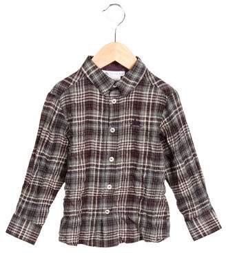 Charabia Boys' Plaid Button-Up Shirt w/ Tags