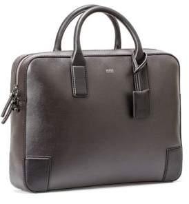 HUGO BOSS Saffiano-Leather Zippered Digital Single Document Case
