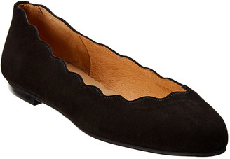 French Sole Razor Suede Flat