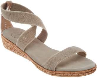 Co Charleston Shoe Multi Strap Wedge Sandals - Easton