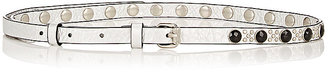 Marc by Marc Jacobs MARC BY MARC JACOBS WOMEN'S METALLIC LEATHER BELT $189.09 thestylecure.com