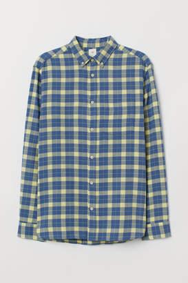 H&M Regular Fit Cotton Shirt - Yellow