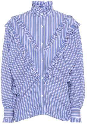 ALEXACHUNG Striped cotton shirt