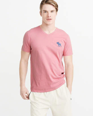 Abercrombie & Fitch Exploded Icon V-Neck Tee