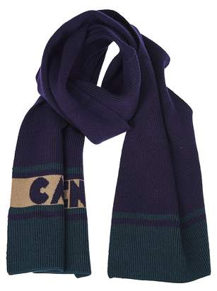Carven Ribbed Knit Scarf