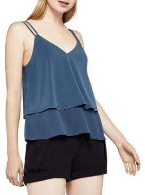 BCBGeneration Mixed-Media Ruffle Cami