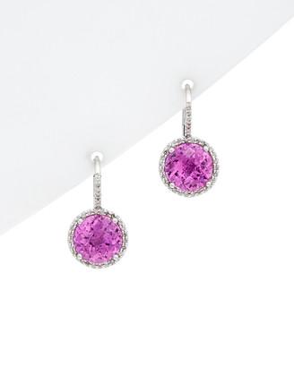575 Denim Diana M 14K Ct. Tw. Diamond & Topaz Earrings