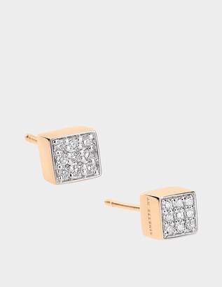 ginette_ny Mini Diamond Ever 18-karat rose gold studs