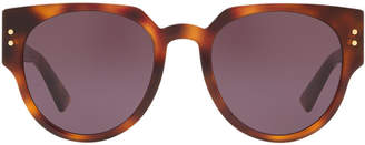 Christian Dior Ladydiorstuds3 52 Black Oval Sunglasses