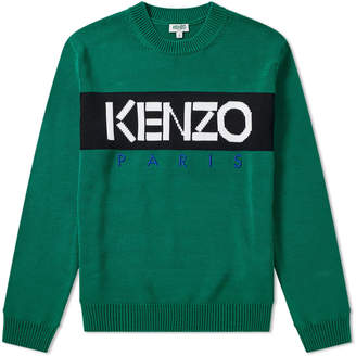 Kenzo Paris Logo Crew Knit