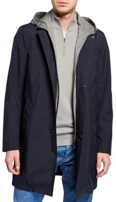 Loro Piana Men's Urban Sebring Reefton Snap-Front Rain Coat