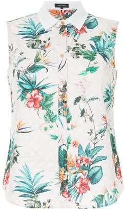 Loveless floral-print sleeveless shirt