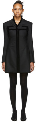 Situationist SSENSE Exclusive Black Empire Chest Detail Dress