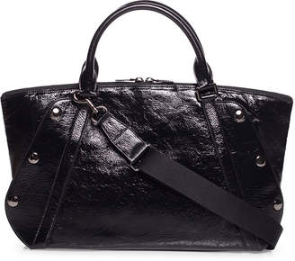 Akris Aimee Crinkled Patent Satchel Bag