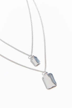 Urban Outfitters Double Tag Layering Necklace