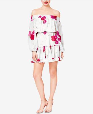 Betsey Johnson Floral Off-The-Shoulder Dress