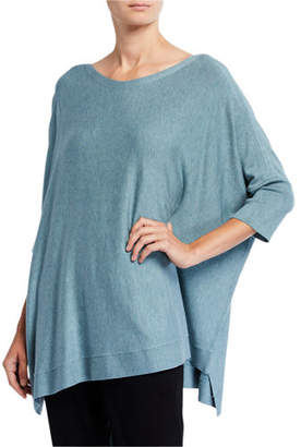 Eileen Fisher Bateau-Neck 3/4-Sleeve Cozy Top