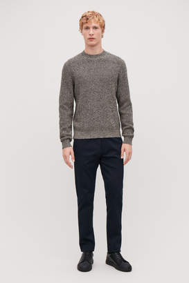 Cos COLOUR-STITCH KNITTED JUMPER