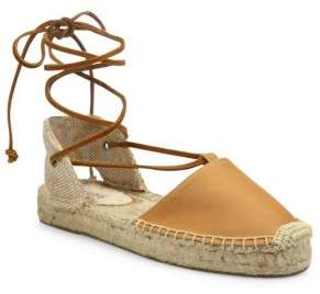 Soludos Leather Lace-Up Espadrilles