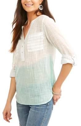 Caribbean Joe Women's Cotton Ombre Shirt
