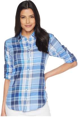 Lauren Ralph Lauren Plaid Cotton Twill Shirt Women's Clothing