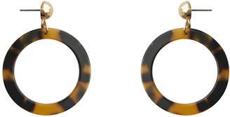 David Lawrence E606.1620 Resin Hoop Earrings