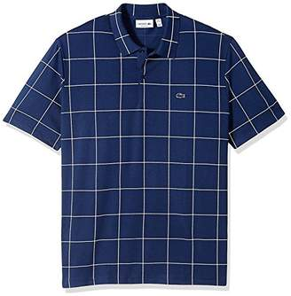 Lacoste Men's Short Sleeve Printed Check Regular Fit Polo