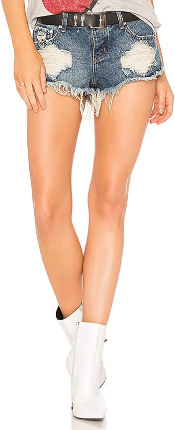 Veronica Super low Rise Denim Shorts.