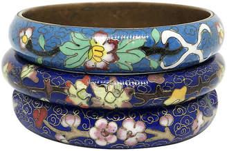 One Kings Lane Vintage Chinese CloisonnA Bangles - Set of 3 - Little Treasures