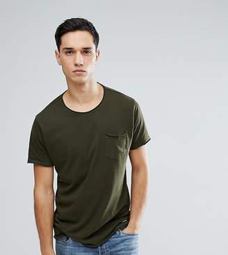 Brave Soul TALL Basic Raw Edge T-Shirt