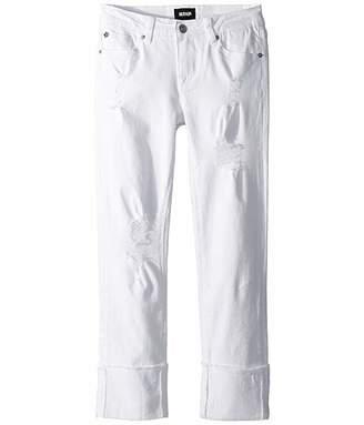 Hudson Jessa Skinny Roll Cuff Crop in White (Big Kids)