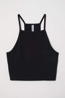 H&M Short Camisole Top - Black - Women