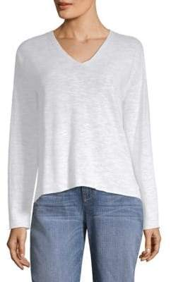 Eileen Fisher Boxy V-Neck Top