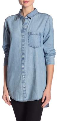 Susina Chambray Button Down Top