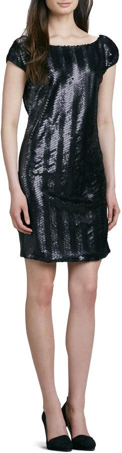 Rachel Zoe Clare Sequined Low-Back Dress