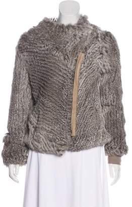 Helmut Lang Knitted Fur Jacket