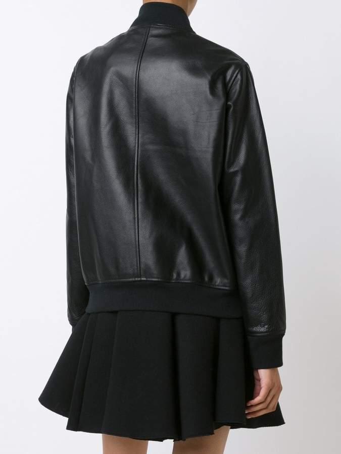 Diesel Black Gold leather bomber jacket