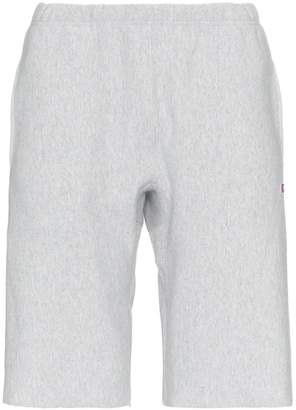 Champion light grey reverse weave sweat shorts