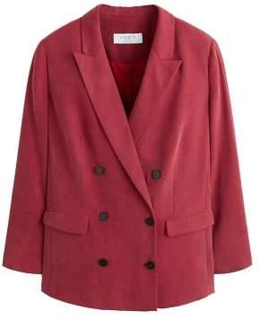 Violeta BY MANGO Buttoned soft blazer
