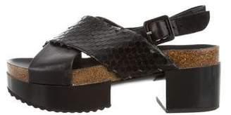 Robert Clergerie Embossed Slingback Sandals