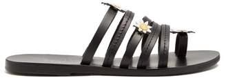 Ancient Greek Sandals X Fabrizio Viti Victoria Leather Sandals - Womens - Black