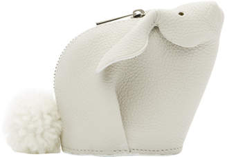 Loewe White Bunny Coin Pouch