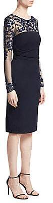 David Meister Women's Beaded Illusion Sheath Dress