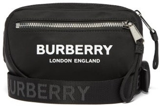Burberry Logo Print Belt Bag - Mens - Black